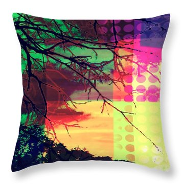 Throw Pillow featuring the digital art Natural Beauty #4 by Diana Riukas