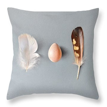 Throw Pillow featuring the drawing Natural Beauty by Elena Kolotusha