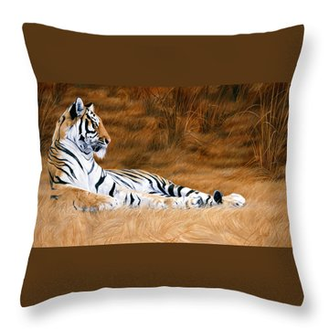 Natural Beauty Throw Pillow by Lucie Bilodeau