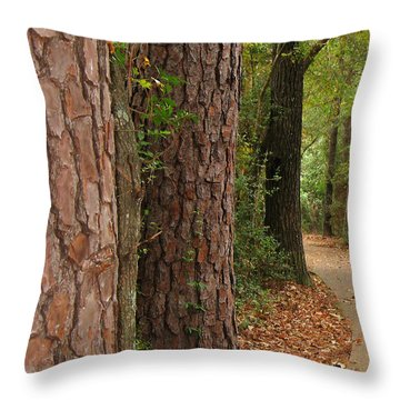 Natural Beauty Throw Pillow by Connie Fox