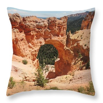 Natural Bridge At Bryce Canyon Throw Pillow