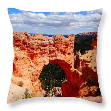 Natural Bridge In Bryce Canyon National Park Throw Pillow by Dan Sproul
