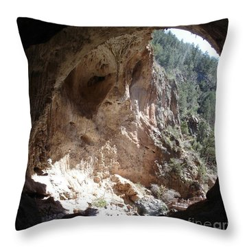 Natural Bridge View Throw Pillow