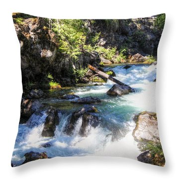 Natural Bridges Throw Pillow by Melanie Lankford Photography