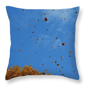 Natural Confetti Throw Pillow