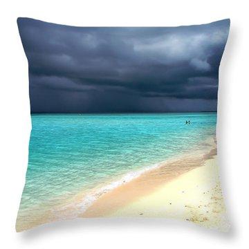 Natural Drama Throw Pillow by Jenny Rainbow