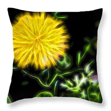 Natural Electric Beauty Throw Pillow