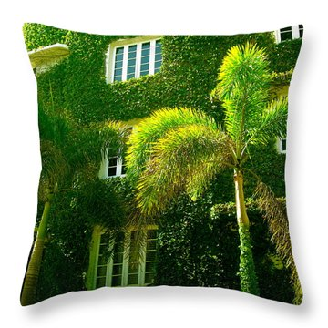 Natural Ivy House Throw Pillow