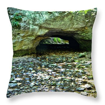 Natural Rock Bridge Throw Pillow