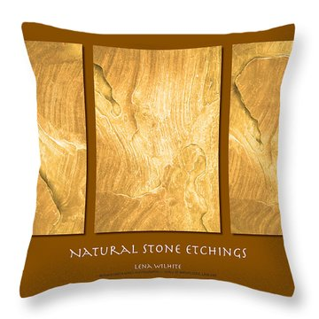 Throw Pillow featuring the photograph Natural Stone Etchings by Lena Wilhite