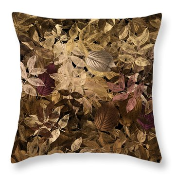 Naturaleaves - Gla02f Throw Pillow by Variance Collections