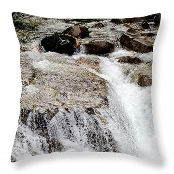 Backroad Waterfall Throw Pillow