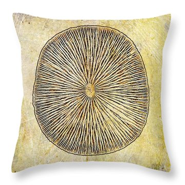 Nature Abstract 1 Throw Pillow by Maria Huntley