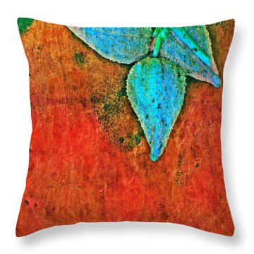 Nature Abstract 11 Throw Pillow by Maria Huntley