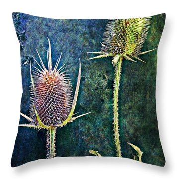 Throw Pillow featuring the digital art Nature Abstract 12 by Maria Huntley