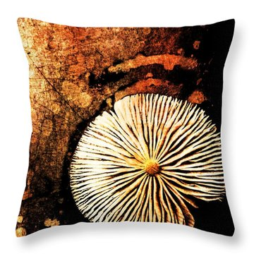 Throw Pillow featuring the digital art Nature Abstract 14 by Maria Huntley