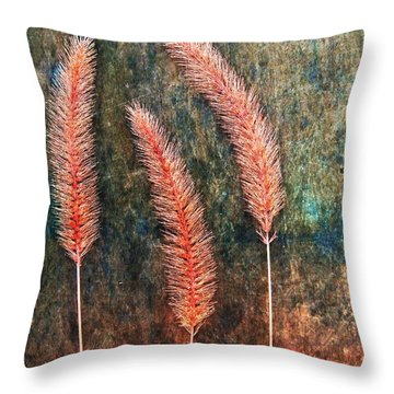 Throw Pillow featuring the digital art Nature Abstract 15 by Maria Huntley