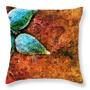 Throw Pillow featuring the digital art Nature Abstract 17 by Maria Huntley