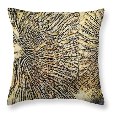 Throw Pillow featuring the digital art Nature Abstract 2 by Maria Huntley