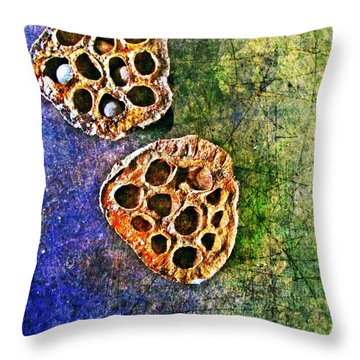 Throw Pillow featuring the digital art Nature Abstract 20 by Maria Huntley