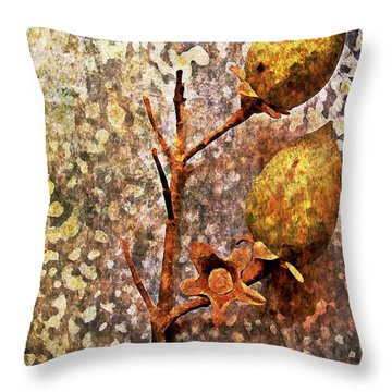 Throw Pillow featuring the digital art Nature Abstract 21 by Maria Huntley