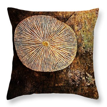 Throw Pillow featuring the digital art Nature Abstract 22 by Maria Huntley