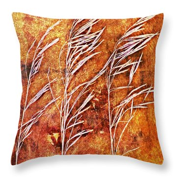 Nature Abstract 24 Throw Pillow by Maria Huntley