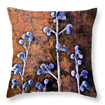 Throw Pillow featuring the digital art Nature Abstract 25 by Maria Huntley