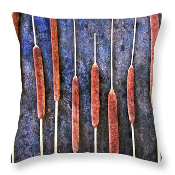 Throw Pillow featuring the digital art Nature Abstract 26 by Maria Huntley