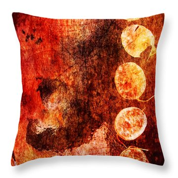 Throw Pillow featuring the digital art Nature Abstract 3 by Maria Huntley