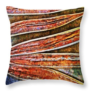 Nature Abstract 37 Throw Pillow by Maria Huntley