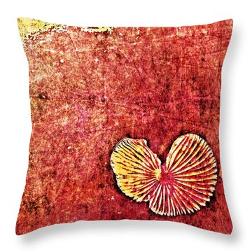 Throw Pillow featuring the digital art Nature Abstract 4 by Maria Huntley