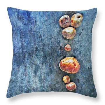 Nature Abstract 42 Throw Pillow by Maria Huntley