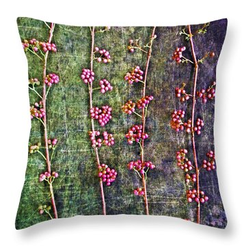 Nature Abstract 43 Throw Pillow by Maria Huntley