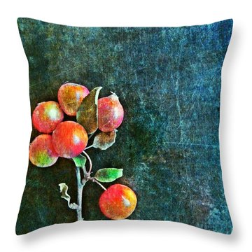 Nature Abstract 45 Throw Pillow by Maria Huntley
