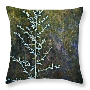 Nature Abstract 46 Throw Pillow by Maria Huntley