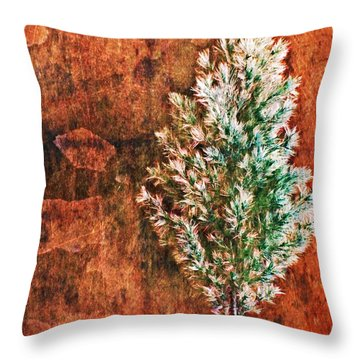 Nature Abstract 48 Throw Pillow by Maria Huntley