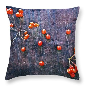 Nature Abstract 49 Throw Pillow by Maria Huntley