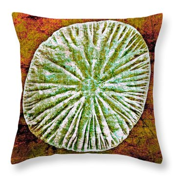 Throw Pillow featuring the digital art Nature Abstract 5 by Maria Huntley
