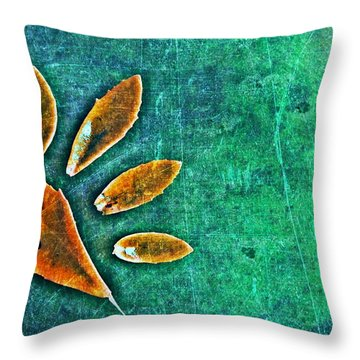 Nature Abstract 52 Throw Pillow by Maria Huntley