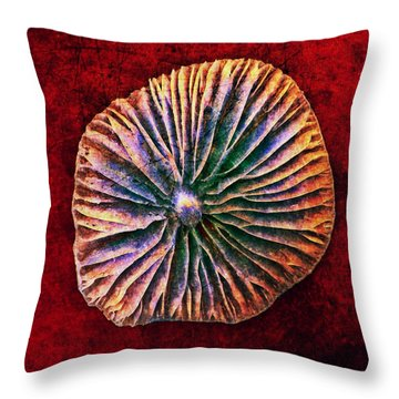 Throw Pillow featuring the digital art Nature Abstract 7 by Maria Huntley