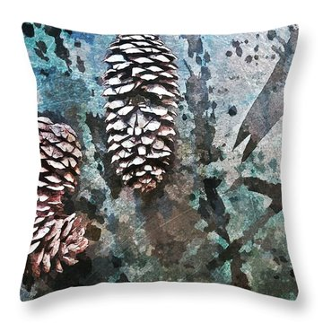 Nature Abstract 87 Throw Pillow by Maria Huntley