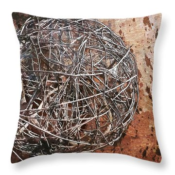 Nature Abstract 88 Throw Pillow by Maria Huntley