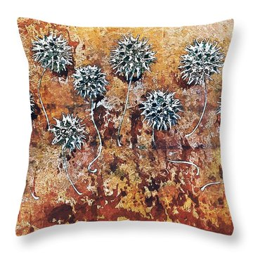 Nature Abstract 90 Throw Pillow by Maria Huntley