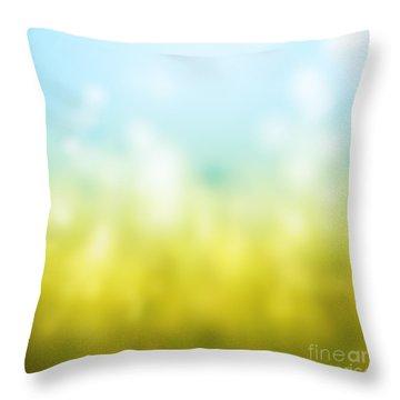 Nature Throw Pillow by Atiketta Sangasaeng