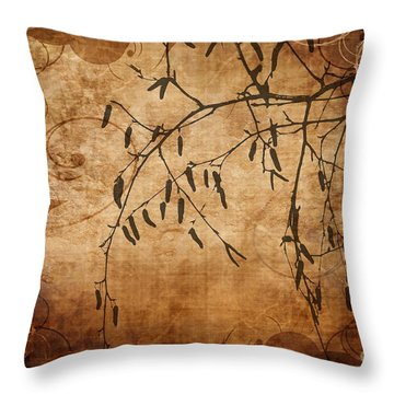 Nature Canvas  Throw Pillow by Andrea Kollo