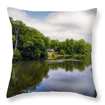 Nature Center On Salt Creek Throw Pillow by Thomas Woolworth