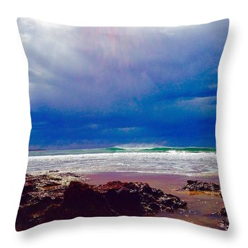 Rolling Stormfront Throw Pillow