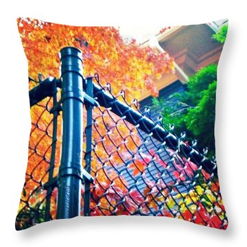 Nature Contained #seasons #autumn Throw Pillow