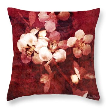Nature Flowers Blossom Time  Throw Pillow by Ann Powell